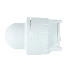 Socket Blank End White 22mm
