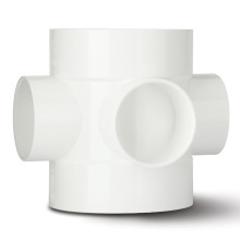 Soil 3way Short Boss Pipe White 110mm