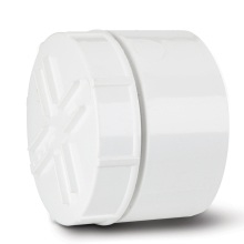Soil Screwed Access Cap Solvent Socket Tail White 110mm