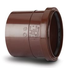Soil Single Socket Coupler Brown 110mm