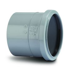 Soil Single Socket Coupler Grey 110mm