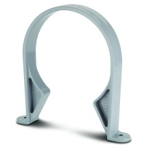 Soil Socket Clip Grey 110mm