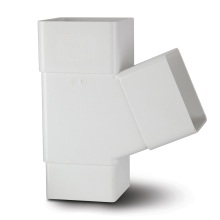 Square Downpipe Branch 112.5 White 65mm