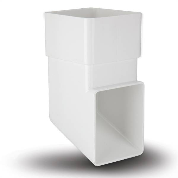Square Downpipe Shoe White 65mm