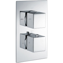 Square Dual Oulet 2Hnd Thermo Concealed Shower Valve