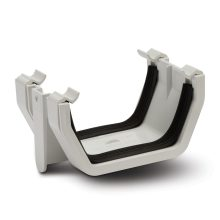 Square Gutter Union Brackets White 112mm