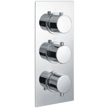 Square Triple Outlet 3Hnd Thermo Concealed Shower Valve