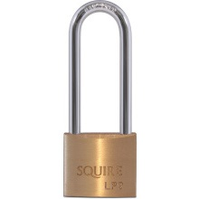 Squire Brass Padlock 40mm Long Shackle LP9/2.5
