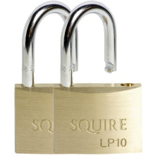 Squire Solid Brass Padlock 50mm LP10 Twin Pack
