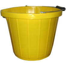 Stadium BM69/1 3Gal Heavy Duty Yellow Bucket