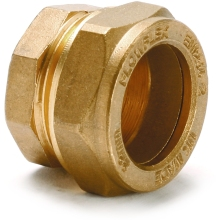 Stop End Brass 22mm