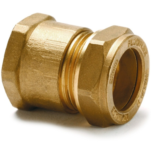 "Straight Adaptor Female 15mm X 3/8"" Copper"