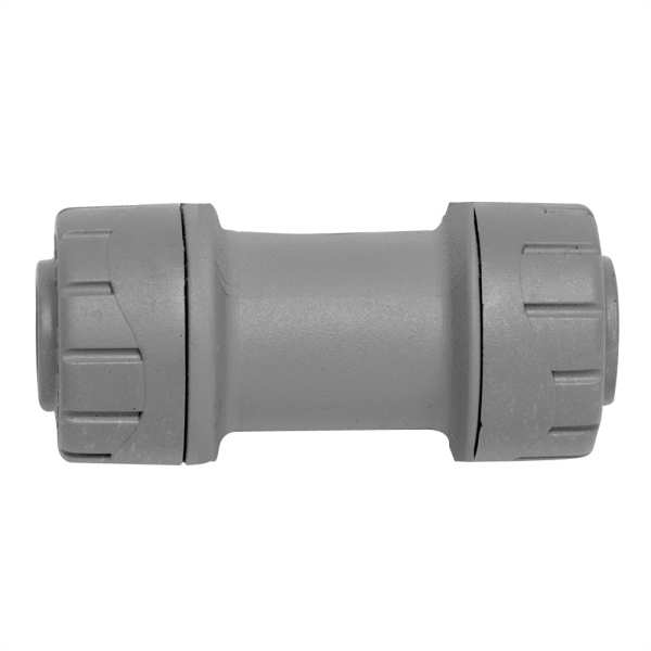 Straight Coupler Grey 22mm