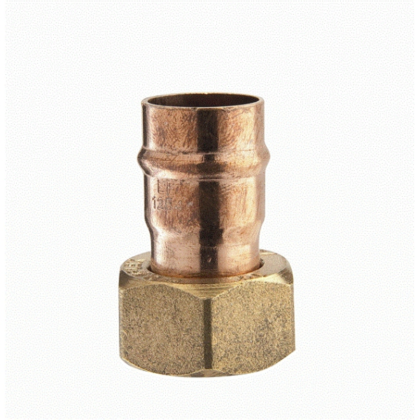"Straight Cylinder Connector 22mm X 1"" Copper"