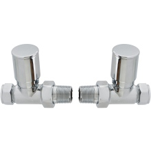 Straight Head Radiator Valve (Pair)