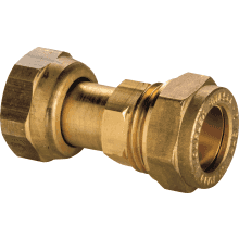 Straight Tap Connector DZR 15mm 1/2 inch