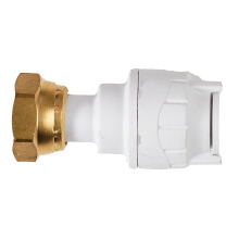 Straight Tap Connectors White 15mmx1/2inch