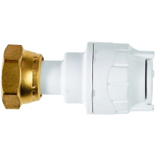Straight Tap Connectors White 15mmx3/4inch
