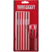 Suregraft 10 Carpenter Pencils&Sharpener