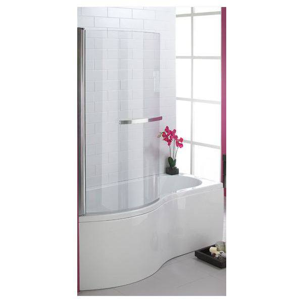 Suregraft 1400mm P Shape 6mm Bath Screen