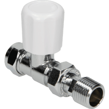 Suregraft 15mm White Straight MRV Lock Shield & Wheel Head