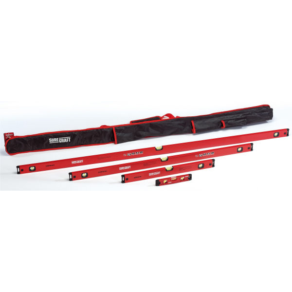 SureGraft 4 Piece Spirit Level With Bag