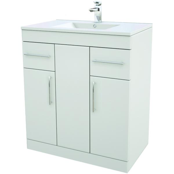 Suregraft base unit basin 750 x 450mm gloss white for White gloss kitchen base units