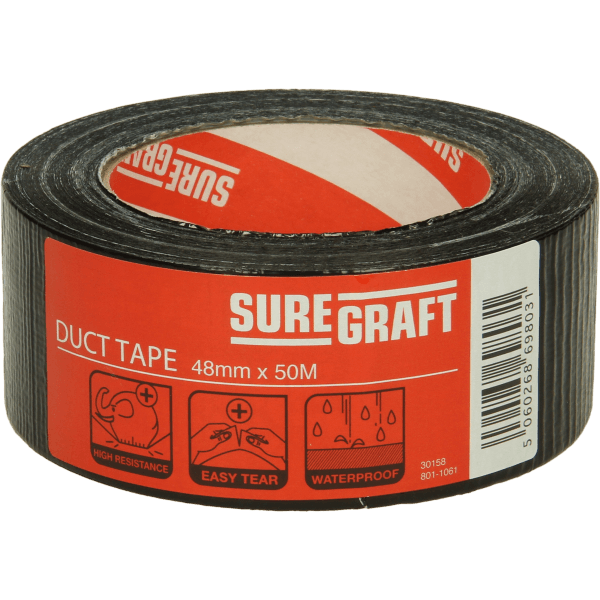 Suregraft Cloth Tape 48mm x 50m Black