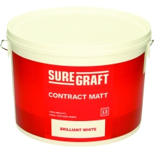 Suregraft Contract Matt Pure Brillaint White 10ltr