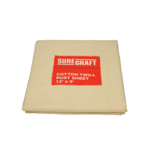 Suregraft Cotton Dust Sheet 3 Pk 12x9ft