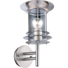 SureGraft Emma IP44 Rated ES Wall Light Stainless Steel 60W