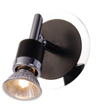 SureGraft Freya GU10 Wall Lights Chrome/Black 1 x 50W