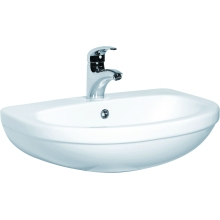 550mm Basin White 1 Taphole