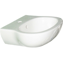 Suregraft Laredo 1 Tap Hole Basin White 45cm