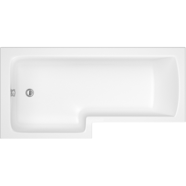 Suregraft L-Shaped Bath 1500 x 850 x 700mm Left Hand