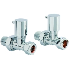 Minimalist Straight Towel Rail Valve Chrome (Pair)