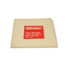 Suregraft P/Back Cotton Dust Sheet 12x9ft