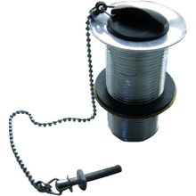 Suregraft Slotted Waste Blk Plug & Chain