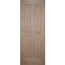 "Suregraft Victorian Oak Veneer 4 Panel Door 686x1981x35mm (2'3"" x 6'6"")"