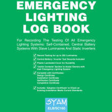 SYAM ELB-SC160 Emergency Lighting Log Book