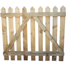 TAFS Point Top Wicket Pressure Treated Gate 900x1000mm