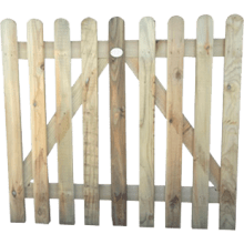 TAFS Round Top Wicket Pressure Treated Gate 900x1000mm