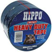 Tembe Hippo 50mm x 50mtr Silver Twin Pack
