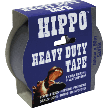 Tembe Hippo H/D Tape 50mm x 50m Silver H18000