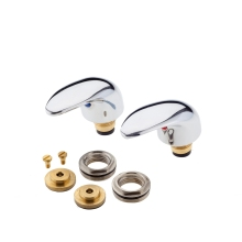 Modern Lever Heads and Conversion Kit Chrome Three Quarter Inch