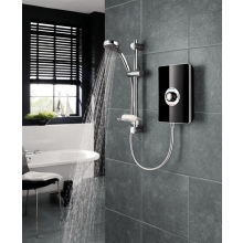Triton Aspirante 8.5KW Electric Shower Black Gloss