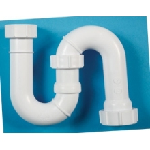 Tubular Swivel S Trap 75mm White 32mm