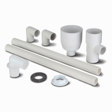 Tundish Kit Low Level Overflow White 21.5mm