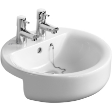 Ideal Standard Concept Sphere 45cm Semi Countertop Basin Two Tapholes