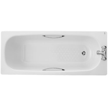 Twyford 540 x 700 x 1500mm Celtic Bath 2 Tap With Legs & Grips White